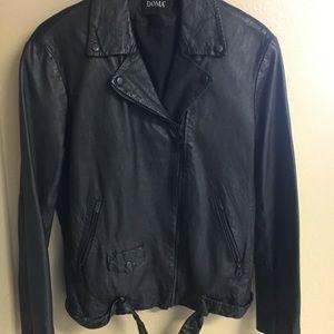 DOMA Black Leather Moro Jacket